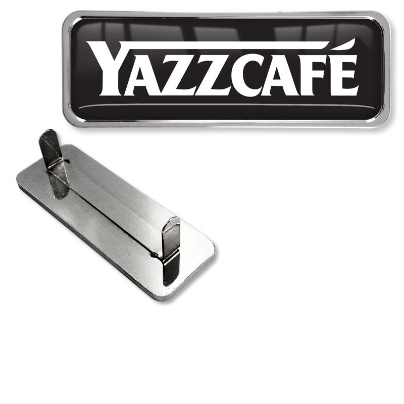 M70856 Metal Textile Badge