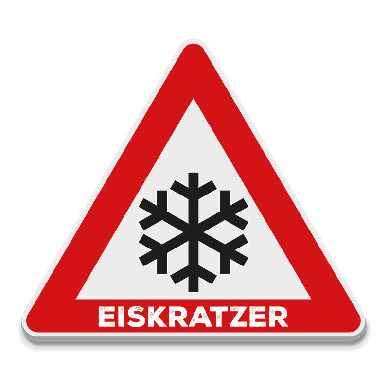 Eiskratzer Straßenschild