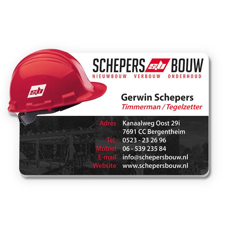 Kunststof Visitekaartje Schepers Bouw
