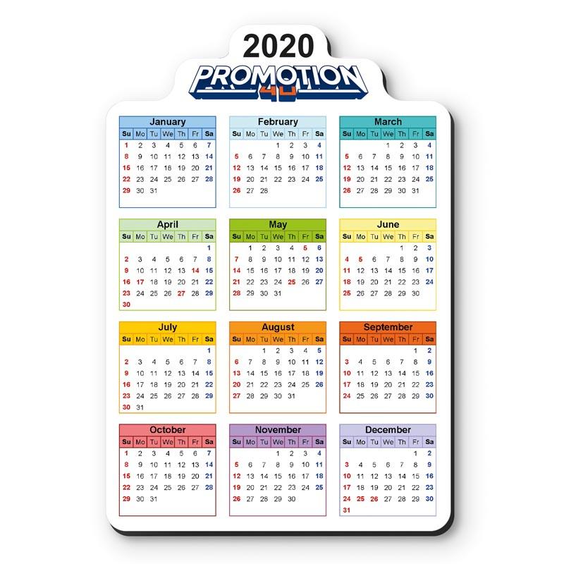Magneetfolie Kalender