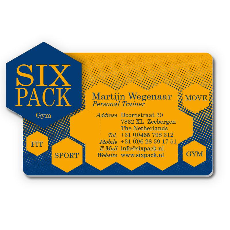 Kunststof Visitekaartje Six Pack