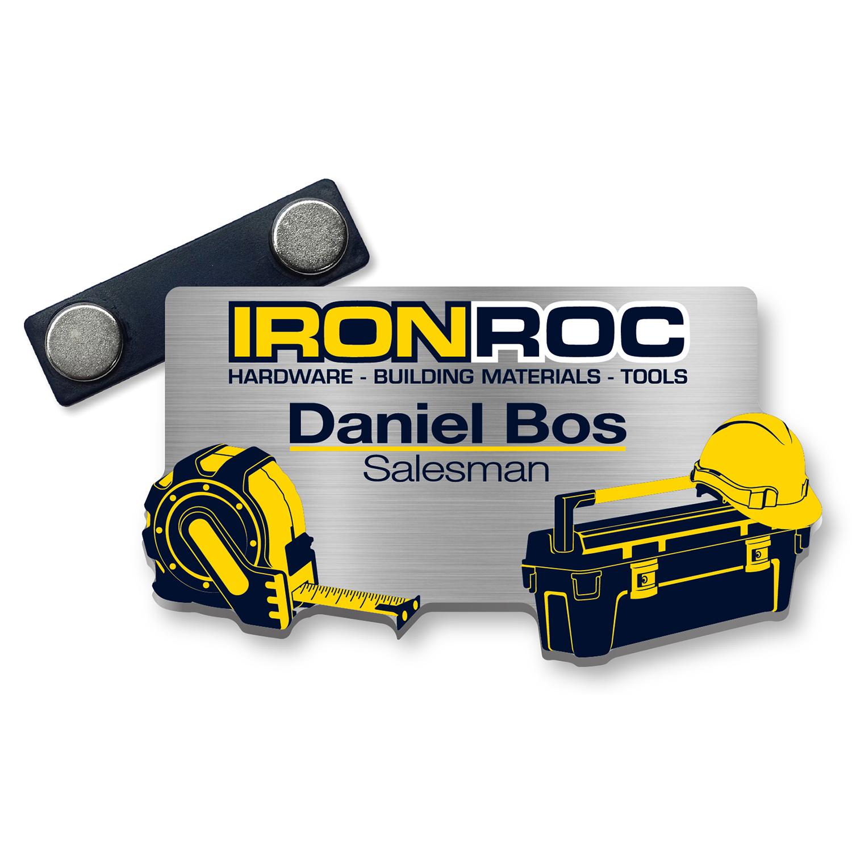 Aluminium Namensschilder Iron Roc