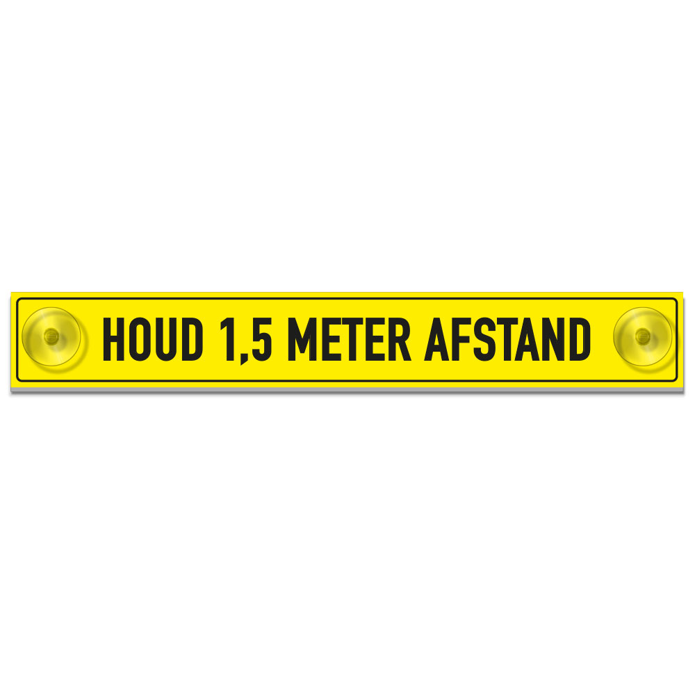 bordje 1-5 meter afstand houden
