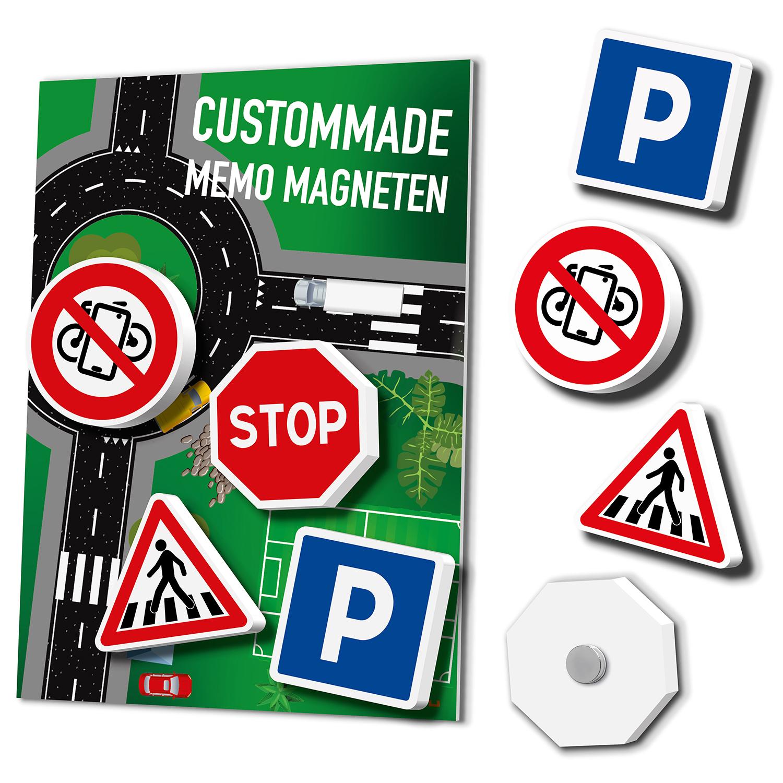 Magneetbordjes Met Custommade Magneten: Verkeersborden